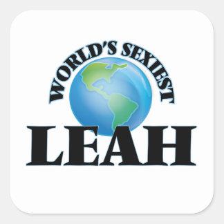 Leah la plus sexy du monde sticker carré