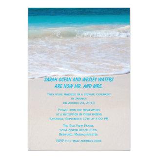 L'eau à la réception de rivage seulement carton d'invitation  12,7 cm x 17,78 cm