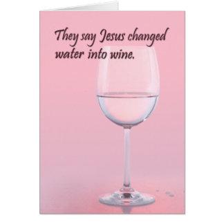 L'eau à wine carte d'anniversaire