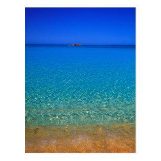 L'eau bleue, îles d'Exuma, Bahamas Cartes Postales