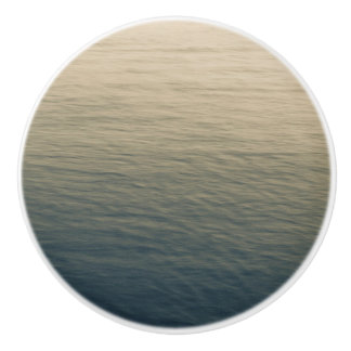 L'eau calme au crépuscule bouton de porte en céramique