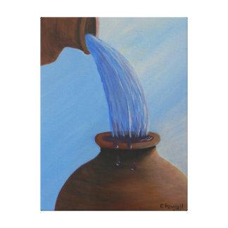 L'eau dans la copie de toile de vin