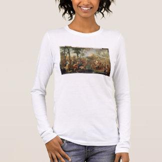 L'eau de dessin de Moïse de la roche (huile sur la T-shirt À Manches Longues