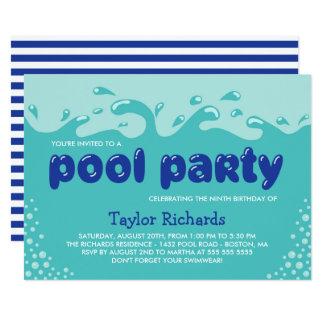 L'eau éclabousse - la réception au bord de la carton d'invitation  12,7 cm x 17,78 cm