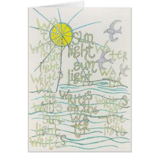 L'eau écrit la lumière du soleil écrit la carte