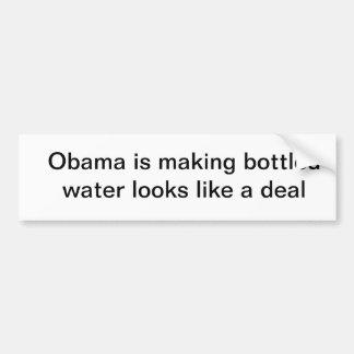 L'eau en bouteille est une affaire autocollants pour voiture