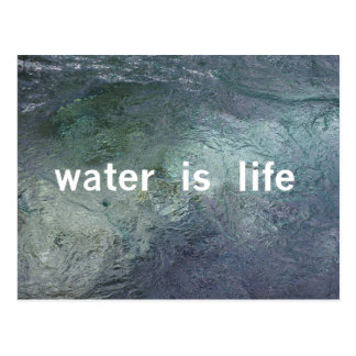 L'eau est la vie. Aucun DAPL, clef de voûte XL, Carte Postale