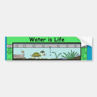L'eau est la vie autocollant de voiture
