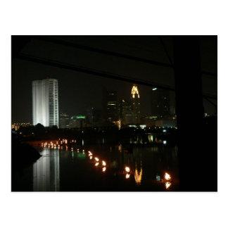 L'eau/feu, carte postale de Columbus, Ohio