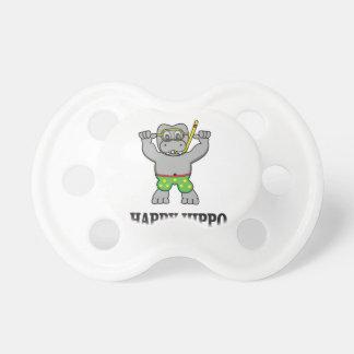 l'eau heureuse d'hippopotame tétine