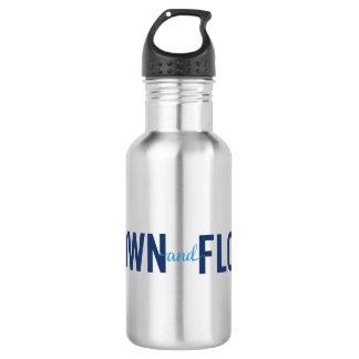 L'eau inoxydable développée et pilotée du logo 2 bouteille d'eau en acier inoxydable