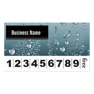 L'eau laisse tomber la carte de fidélité d'affaire cartes de visite personnelles