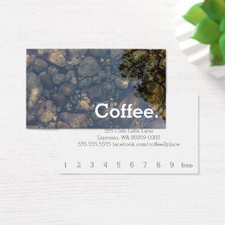 L'eau lapide la carte perforée simple de café de