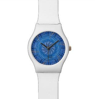 L'eau personnalisable (spirograph psychédélique) montres bracelet