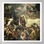 L'eau saisissante de Moïse de la roche, 1575 Posters