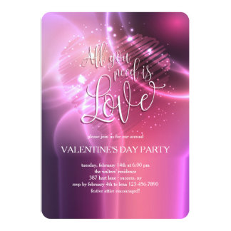 L'éblouissement de tout que vous avez besoin est carton d'invitation  12,7 cm x 17,78 cm