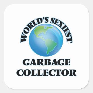 L'éboueur le plus sexy du monde stickers carrés