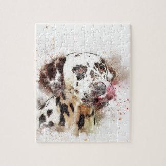 Lèchement de chien de Dalmation Puzzle