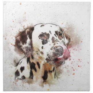Lèchement de chien de Dalmation Serviettes