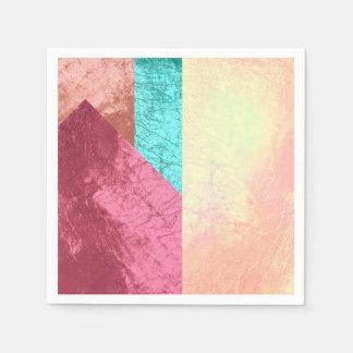 L'éclaboussure géométrique de l'or de rose de rose serviette en papier
