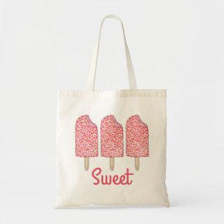 L'Eclair doux de rose de fraise saute le sac de