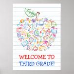 L'école gribouille l'affiche d'Apple de professeur