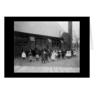 L'école primaire d'Afro-américain badine 1900 Carte De Vœux