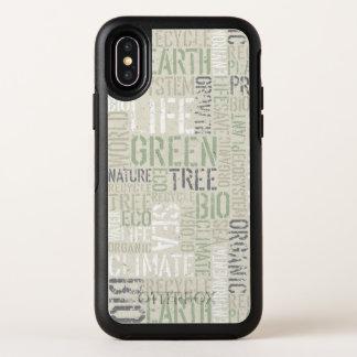 L'écologie exprime le cas de l'iPhone X d'OtterBox