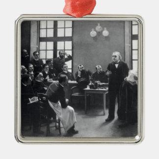 Leçon avec docteur Charcot chez le Salpetriere Ornement Carré Argenté