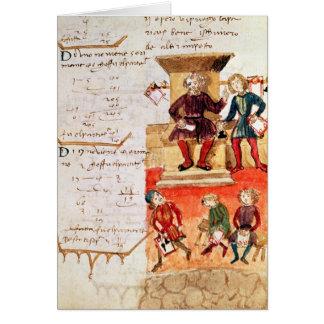 Leçon de mathématiques, d'un traité mathématique carte de vœux