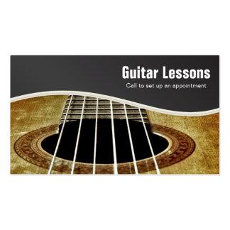 Leçons de guitare modèle de carte de visite