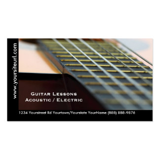 Leçons de guitare - guitare acoustique de carte de visite standard