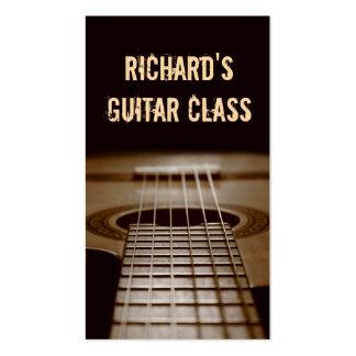 Leçons de guitare - photo élégante classique de carte de visite standard
