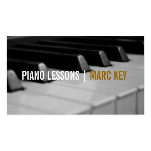 Leçons de piano, instructeur de musique carte de visite