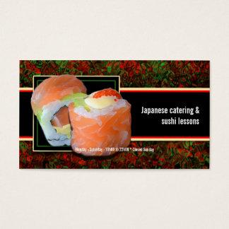 Leçons de restauration de restaurant japonais de cartes de visite