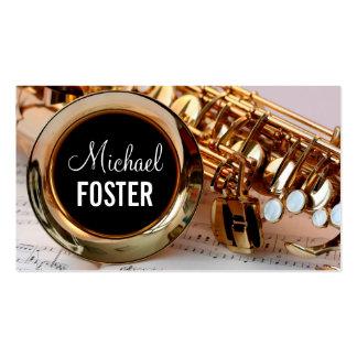 Leçons de saxo de professeur de saxophone de carte de visite standard