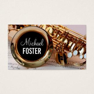 Leçons de saxo de professeur de saxophone de cartes de visite