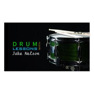 Leçons de tambour, instrument, carte d'industrie modèle de carte de visite