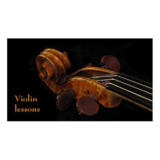 Leçons de violon carte de visite standard
