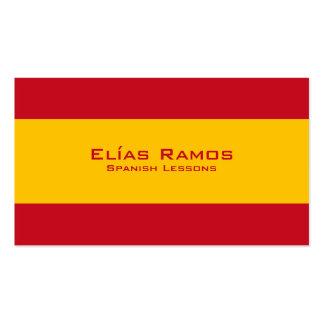 Leçons espagnoles/professeur espagnol carte de visite standard