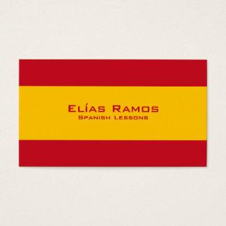 Leçons espagnoles/professeur espagnol cartes de visite
