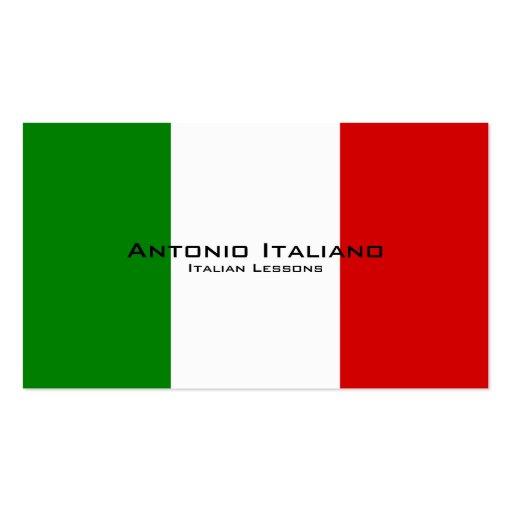 Leçons italiennes/professeur italien modèles de cartes de visite