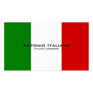 Leçons italiennes/professeur italien carte de visite standard