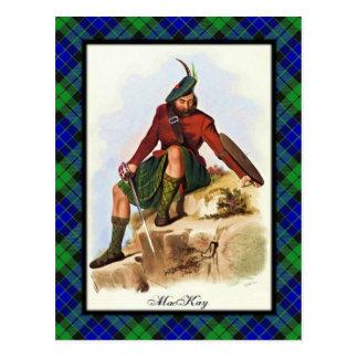 L'écossais de MacKay de clan rêve la carte postale