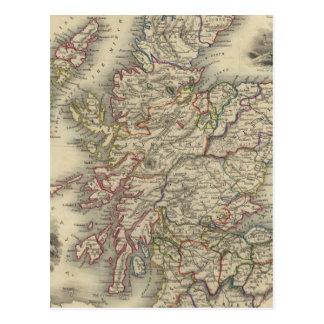 L'Ecosse avec la carte d'encart des Îles Shetland