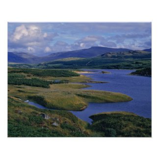 L'Ecosse, montagne, Wester Ross, loch Garry. Affiche