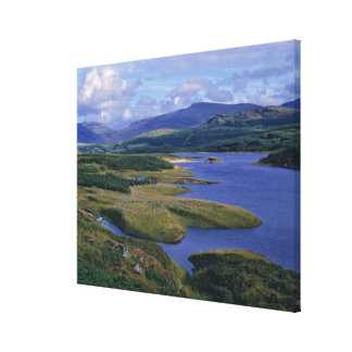 L'Ecosse, montagne, Wester Ross, loch Garry. Toile Tendue Sur Châssis