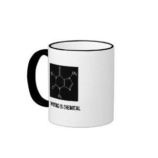 L'écriture est chimique mug ringer