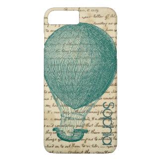 L'écriture vintage chaude de ballon à air coque iPhone 7 plus