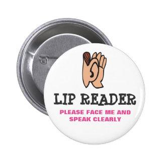 Lecteur de lèvre badges
